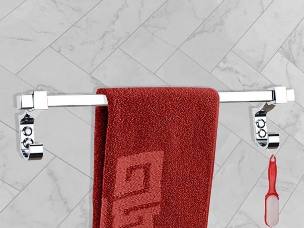 LERICON Stainless Steel Towel Hanger for Bathroom/Towel Rod/Bar/Bathroom Accessories(18 Inch-Chrome) 18 inch 1 Bar Towel Rod