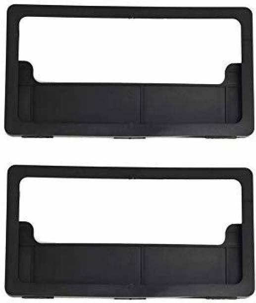zalak Foldable Number Plate Frame (Black) Bike Number Plate