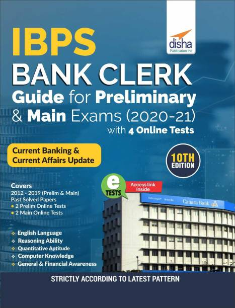 Ibps Bank Clerk Guide for Preliminary & Main Exams 2020-21 with 4 Online Tests