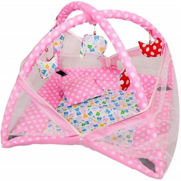 oh baby Baby Kick and Play with Mosquito Net and Baby Bedding Set