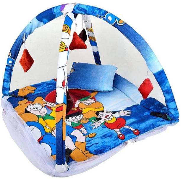 oh baby Baby Kick and Play Gym with Mosquito Net and Baby Bedding Set