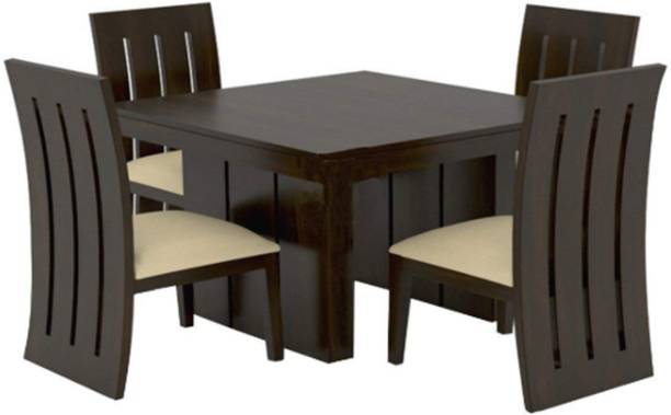 Kendalwood Furniture Premium Dining Room Furniture Wooden Dining Table with 4 Chairs Solid Wood 4 Seater Dining Set