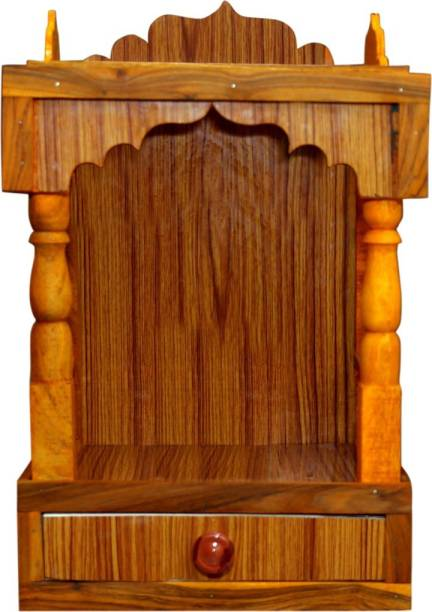 Aquagoodcare Prince Wooden Beautiful Plywood Mandir Pooja Room Home Decor Office OR Home Temple Wall Hanging Product Engineered Wood Home Temple
