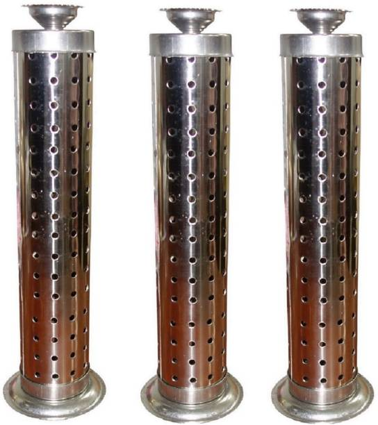SUKOTS 3 NOS STAINLESS STEEL AGARBATTI STAND Steel Incense Holder Set
