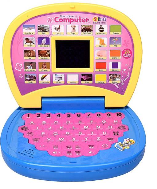 HACKURS Kids Laptop, LED Display, with Music, Educational Laptop Learner, Multi Color