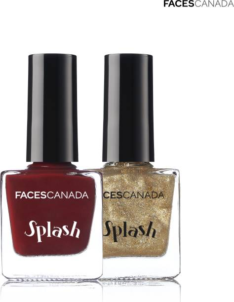 FACES CANADA Splash Nail Enamel (Pack of 2) Marooned & All That Glitters