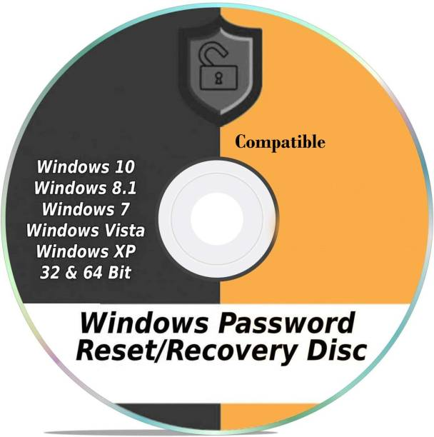 Compatible Windows Password Reset Recovery Disk Windows 10, 8.1, 7, Vista, XP #1 Best Unlocker Remove Software CD DVD (For All PC Computers)