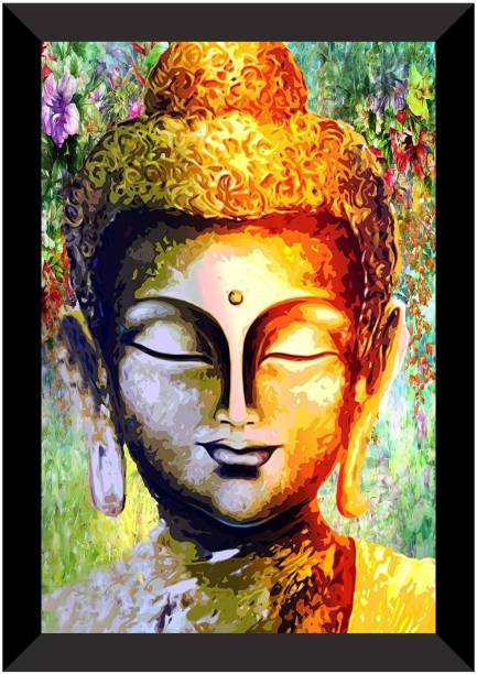 Flipkart Perfect Homes Acrylic Buddha Premium Acrylic 14 inch x 20 inch Painting