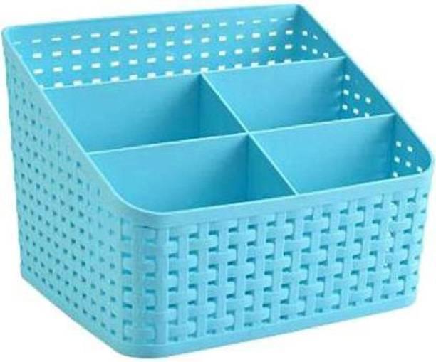 DARSHANAM WORLD Multipurpose Desk and Cosmetic Organizer Storage Basket Storage Basket (Pack of 1) Storage Basket