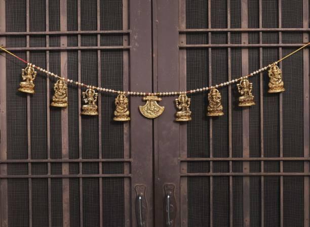 Chhariya Crafts Metal Laxmi Ganesh Saraswati Toran