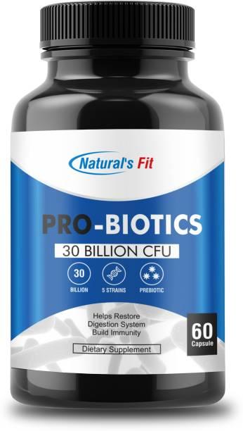 Naturals Fit Probiotics Supplement Digestion Capsule 30 Billion CFU 14 Strains 60 Capsules