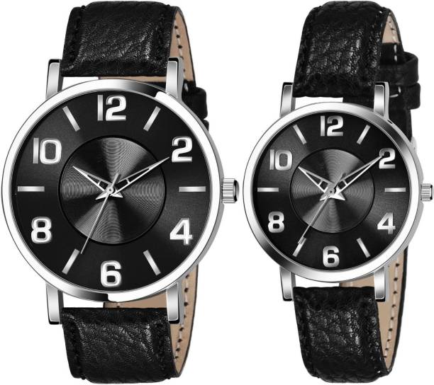 AMINO BLACK NEW ARRIVAL FORMAL COUPLE COLLECTION ANALOG WATCH FOR MEN AND WOMEN Analog Watch  - For Boys & Girls