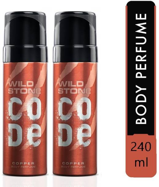Wild Stone Code Copper - 120ml eac h - C2 Body Spray  -  For Men