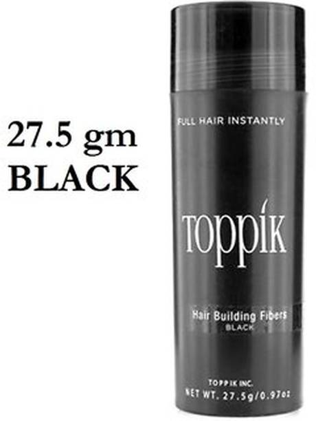 toppik Hair Building Fibers Black Color 27.5 gm Hair Building Treatment Fiber Black Color 27.5 gm Good Hair Volumizer Hair Fiber