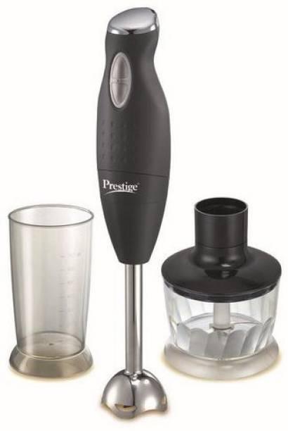 Prestige PHB 6.0 200 Watt 2 Speed Hand Blender with Blending Jar, Chopping, Whisking Attachment multifunctional blade 200 W Chopper, Hand Blender