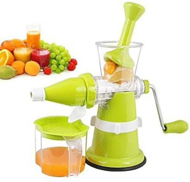 AKADO Plastic Hand Juicer Plastic Fruit and Vegetable, Manual Juicer, Non-Electric with Steel Handle