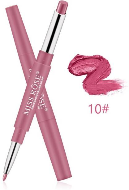MISS ROSE 2 In 1 Matte Lipstick & Liner Pencils For Gorgeous Girls And Women'S (10)