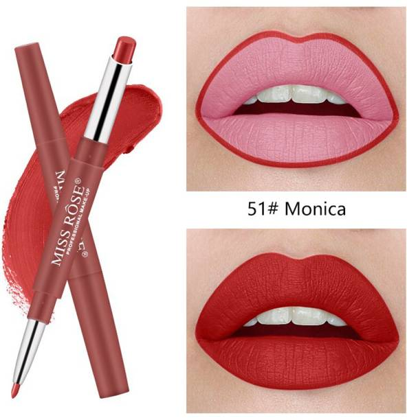 MISS ROSE High Quality 2 in 1 Lip Liner and Lipstic For Womens and Girls (MONICA)