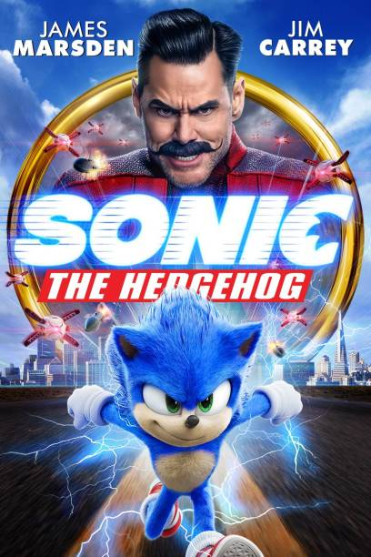 Sonic the Hedgehog (2020) in Hindi & English it's Burn data DVD play only in computer or laptop it's not original without poster HD Print