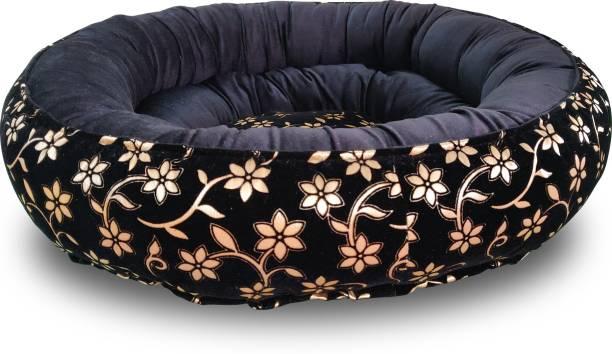 Dogerman Premium Reversible Velvet Dual Black Gold Color Bed for Cats & Dogs XL Pet Bed