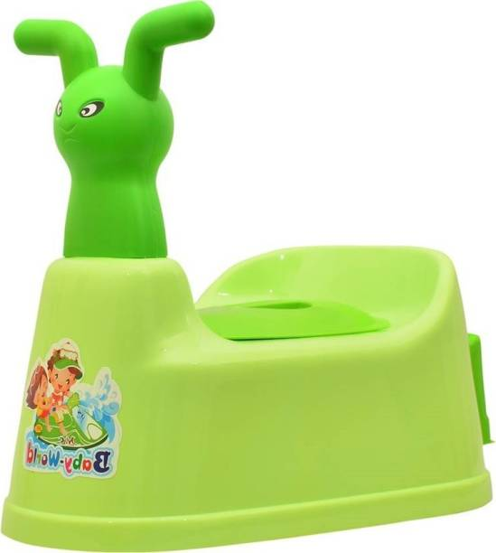 FABLE Toilet Trainer Baby Potty Seat Cartoon Face with Removable Tray & Closing Lid Baby World Baby Potty Seat Potty Seat