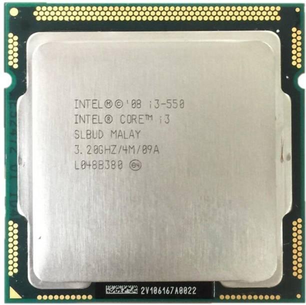 Intel 1st Generation Core i3 550 Processor LGA 1156 Supported 3.2 GHz LGA 1156 Socket 2 Cores 4 Threads 4 MB Smart Cache Desktop Processor