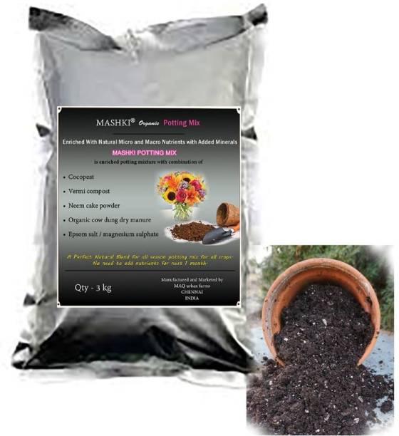 MASHKI Organic Potting Mix Potting Mixture, Soil