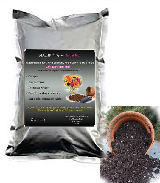 MASHKI Organic Potting Mix Potting Mixture, Soil