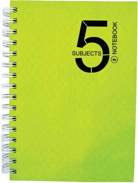 MasterMindMajesty 5 Subject A5 Notebook A5 Notebook Single Line 232 Pages