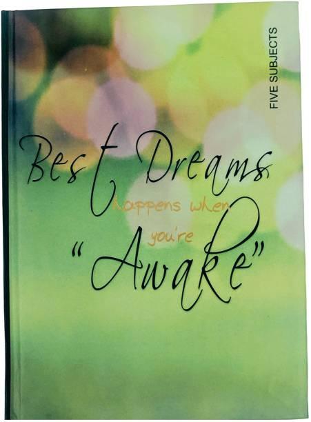 MasterMindMajesty Awake Notebook A5 Notebook Single Line 256 Pages