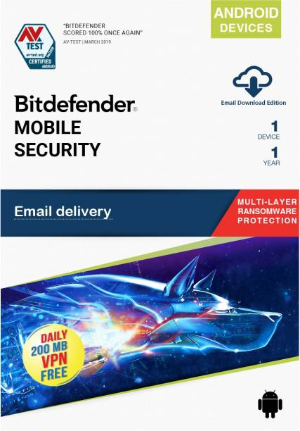 Bitdefender 1 Device 1 Year Mobile Security for Android (Email Delivery - No CD)