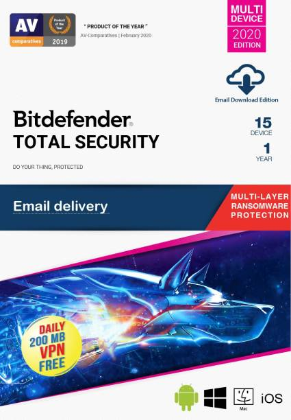 bitdefender 15 PC 1 Year Total Security (Email Delivery - No CD)