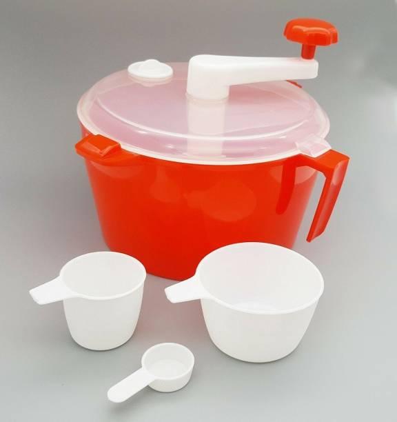 Everyonic Non Electric Atta Dough Maker Food Processors Roti Atta Blender Multipurpose Uses Kneader Machine Manual Flour Mixer Plastic Detachable Dough Maker
