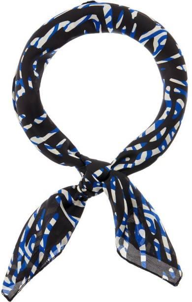 ACCESSORIZE BLUE ZEBRA SQUARE SCARF Hair Band