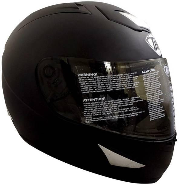 THH HELMETS TS-41 Plain Full Face Single Shield Helmet (Black, Matt, Large) Motorbike Helmet