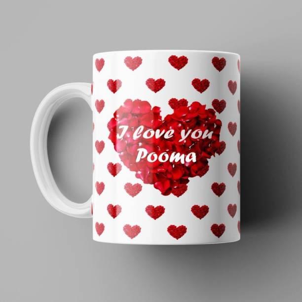 Beautum I Love You Pooma Romantic Name Ceramic Coffee (350)ml Model No: BILU015777 Ceramic Coffee Mug