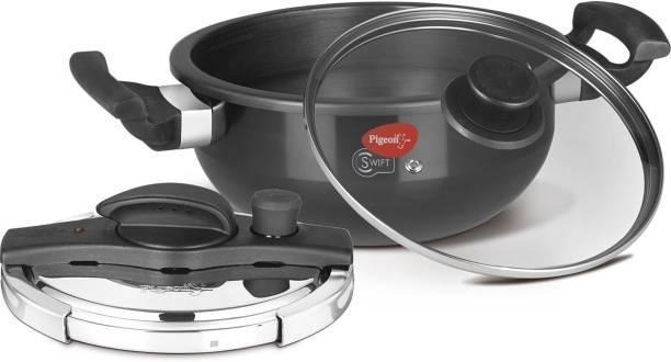 Pigeon Swift Kadai 3 L Induction Bottom Pressure Cooker