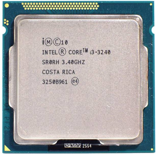 Intel i3 (3240) 3rd Gen Processor for H61 Chipset Motherboards & LGA Socket Type 1155 3.4 GHz LGA 1155 Socket 2 Cores Desktop Processor