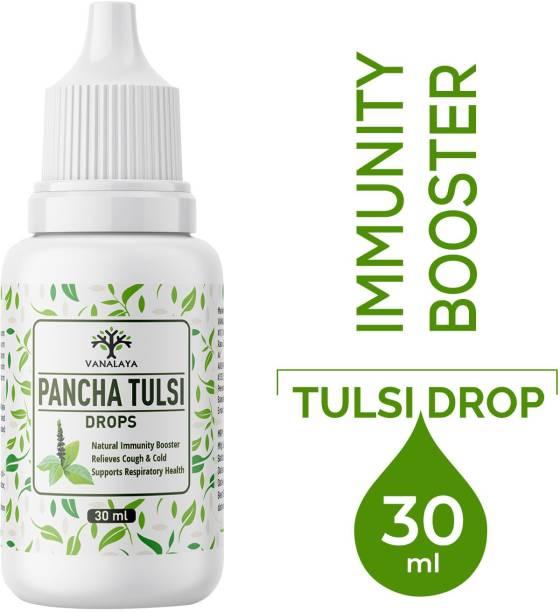 Vanalaya Pancha Tulsi Drops Natural Immunity Booster, Cough cold Relief, sore throat, cough