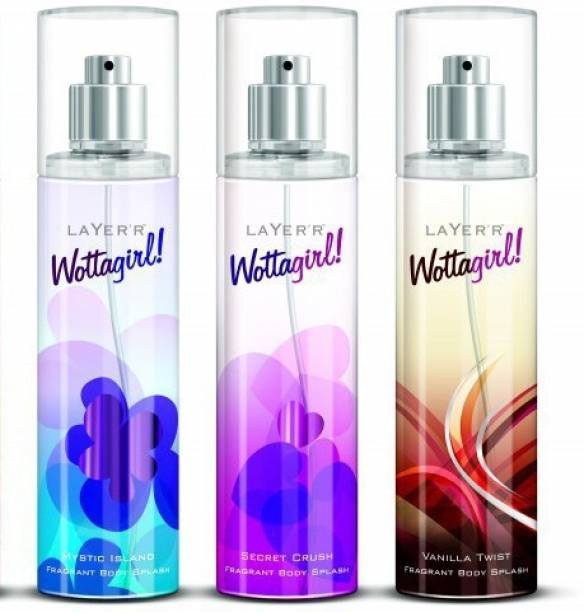 LAYER'R Wottagirl! Wottagirl set of 3 B Perfume Body Spray  -  For Women