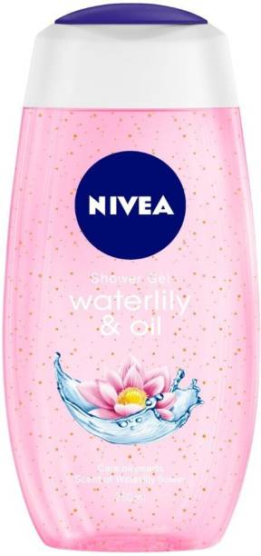 NIVEA Body Wash, Waterlily & Oil Shower Gel, Pampering Care with Refreshing Scent of Waterlily Flower
