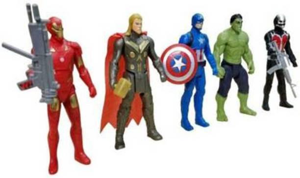 Tenderfeet Super Hero Team Set of Five Action Figures