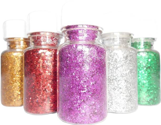 Rudra Glitter Dust Powder/Sparkle (Pack of 12, Multicoloured) For DIY, Art & Craft and Other Fun Activities