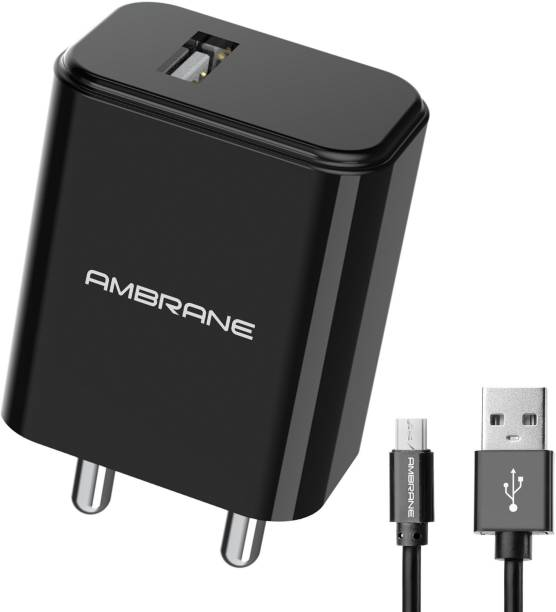 Ambrane AWC- 65 10.5 W 2.1 A Mobile Charger with Detachable Cable