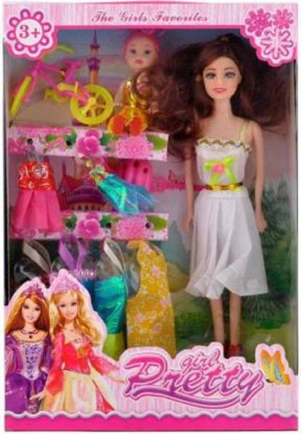 Etahmart Doll Set with Accessories for Girls/Plastic doll set