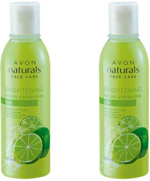 AVON Naturals Lime Peeling Exfoliator 100 ML (Pack of 2) Face Wash