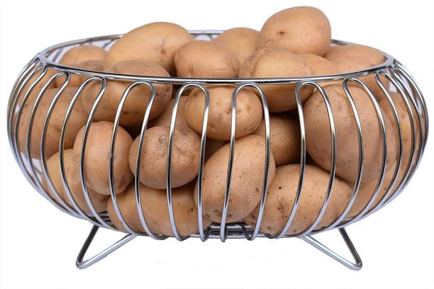 imPULSE Fruit Matka Stand Stainless Steel Fruit & Vegetable Basket