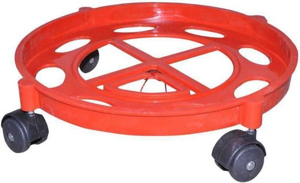 keydus Gas Cylinder Trolley with Wheels | Gas Trolly | LPG Cylinder Stand (Red) Gas Cylinder Trolley