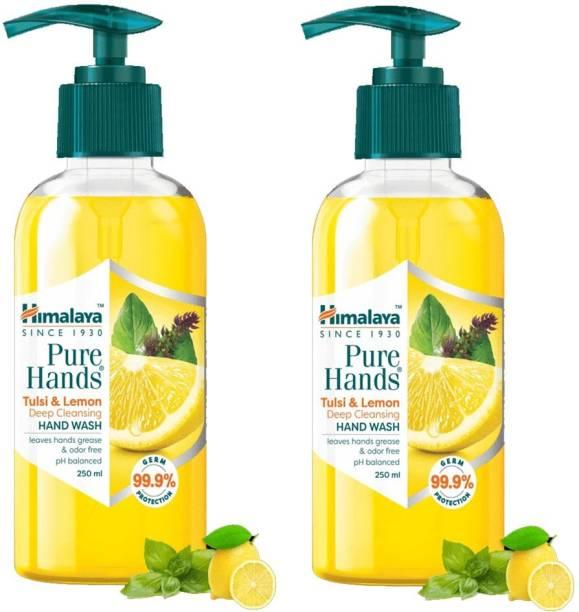 HIMALAYA Pure Hands Tulsi & Lemon Hand Wash PUMP Hand Wash Pump Dispenser