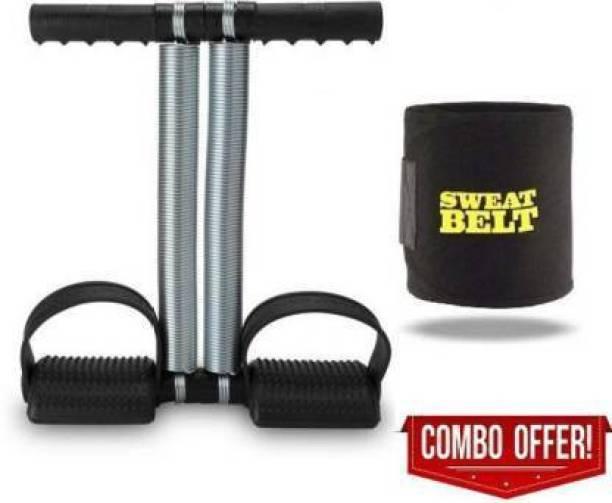 AJRO DEAL DOUBLE SPRING AB EXERCISER TUMMY TRIMMER & SWEAT BELT COMBO Gym & Fitness Kit Ab Exerciser